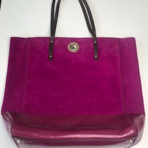 Kate Spade Purple Leather - Suede Purse